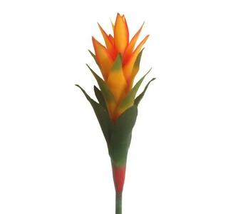 Umělá květina bromelia scarlet oranžová