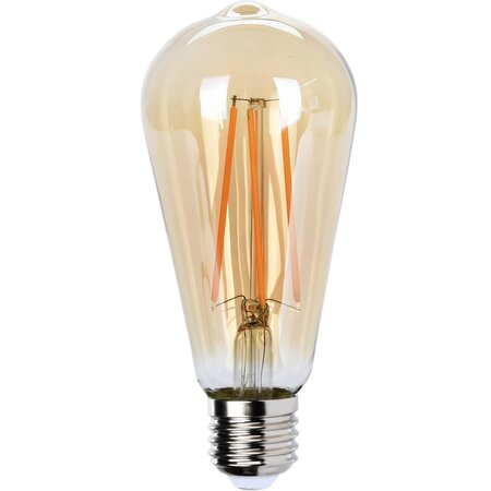 LED Žárovka s uhlíkovým vláknem E27, 14 cm