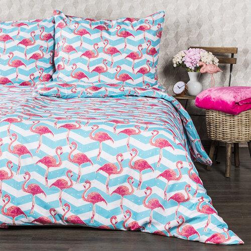 4Home Bavlněné povlečení Flamingo, 140 x 220 cm, 70 x 90 cm