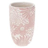 Betónová váza Flower, ružová, 12,5 x 21 x 12,5 cm