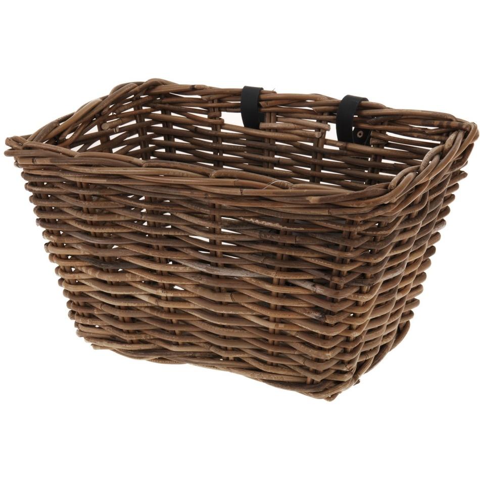 Proutěný košík na kolo, 39 x 28 cm