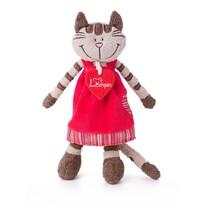 Lumpin Kočička Angelique v jahodových šatech, 23 cm