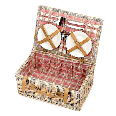Krásny piknikový kôš pre 4 osoby