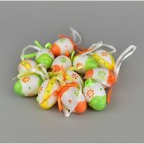 Velikonoční malovaná vajíčka 4 cm, sada 12 ks