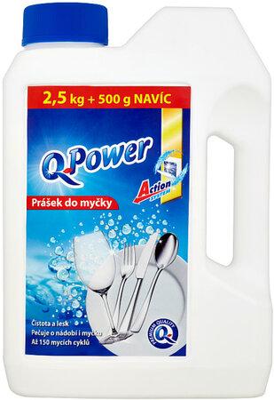 Q Power Prášek do myčky nádobí 2,5 kg + 500 g
