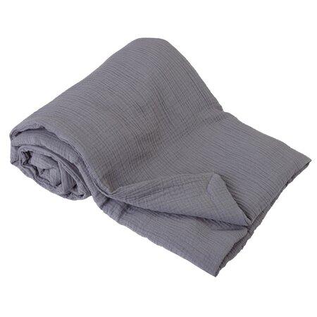 Dětská deka šedá, 75 x 100 cm