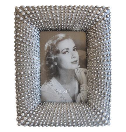 Fotorámeček puntík, stříbrná, PF064 Stardeco