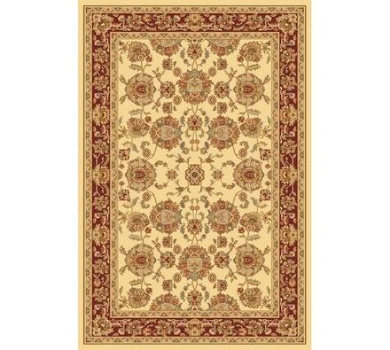 Kusový koberec Malaga klasik, béžový se vzorem, 67 x 130 cm
