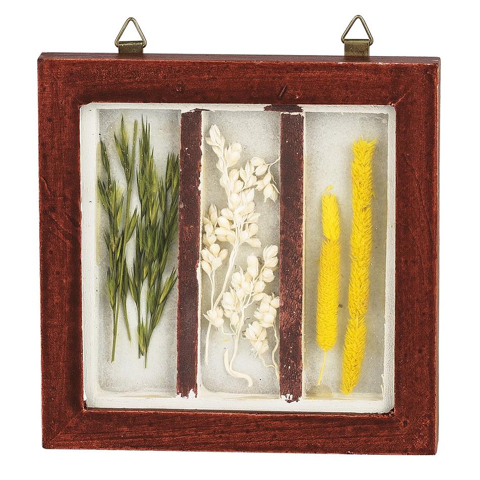 Obrázek prírodných dekoracii 12 x 12 cm