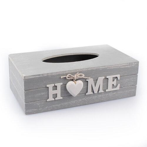 Krabička na vreckovky Home, sivá, Dakls