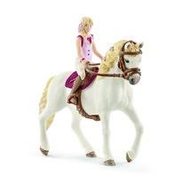 Schleich Sofia, a szőke hajú baba és  Blossom, a ló
