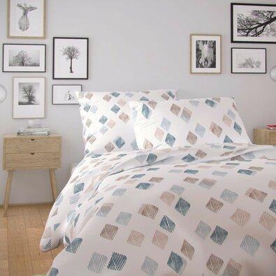 Lenjerie de pat din bumbac Kvalitex Nordic Agnes,alb, 140 x 200 cm, 70 x 90 cm