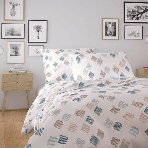 Kvalitex Bavlněné povlečení Nordic Agnes bílá, 140 x 200 cm, 70 x 90 cm