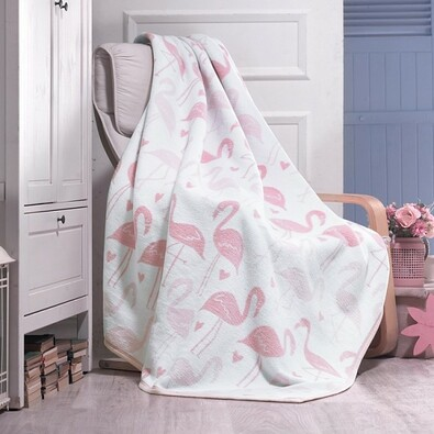 Matějovský márkájú Pink Flamingo takaró, 160 x 220 cm