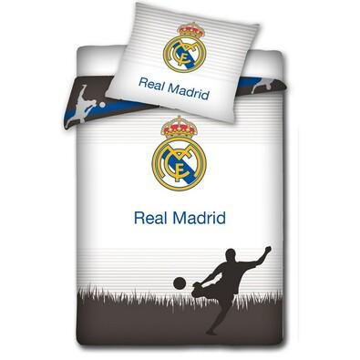 Bavlněné povlečení Real Madrid Shadow, 140 x 200 cm, 70 x 80 cm