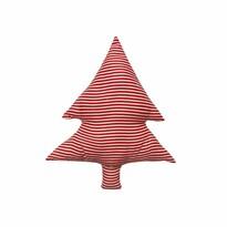 Domarex Vánoční tvarovaný polštářek Smrček červené proužky, 40 cm