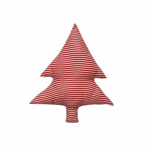 Domarex Tvarovaný polštářek Smrček červené proužky, 40 cm