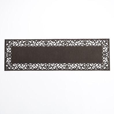 Běhoun plstěný plný hnědý, 100 x 30 cm
