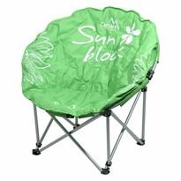 Cattara Kempingová skladacia stolička Flowers, zelená