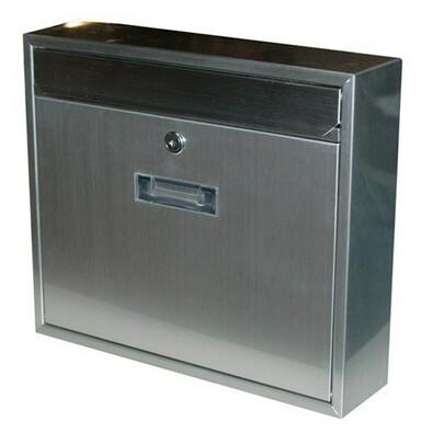 Poštovní nerezová schránka Radim stříbrná, 36 cm