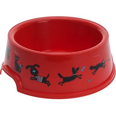 Cane tál házikedvencek számára, piros, átmérő: 16,5 cm