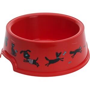 Miska pro domácí mazlíčky Cane, červená , pr. 16,5 cm