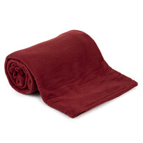 Pătură fleece UNI vișiniu, 150 x 200 cm