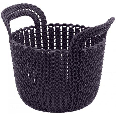 Curver Úložný box Knit kulatý 3 l, tmavě fialová