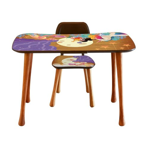Detský stolík so stoličkou Čítanie, 90 x 52 x 60 cm