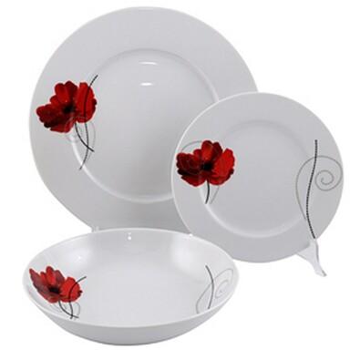Florina 18dílná talířová sada Vlčí máky