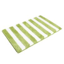 Matějovský márkájú SOFT Csíkok fürdőszobaszőnyeg, zöld, 60 x 90 cm