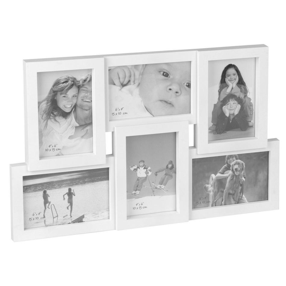 Fotorámeček na 6 fotografií bílá