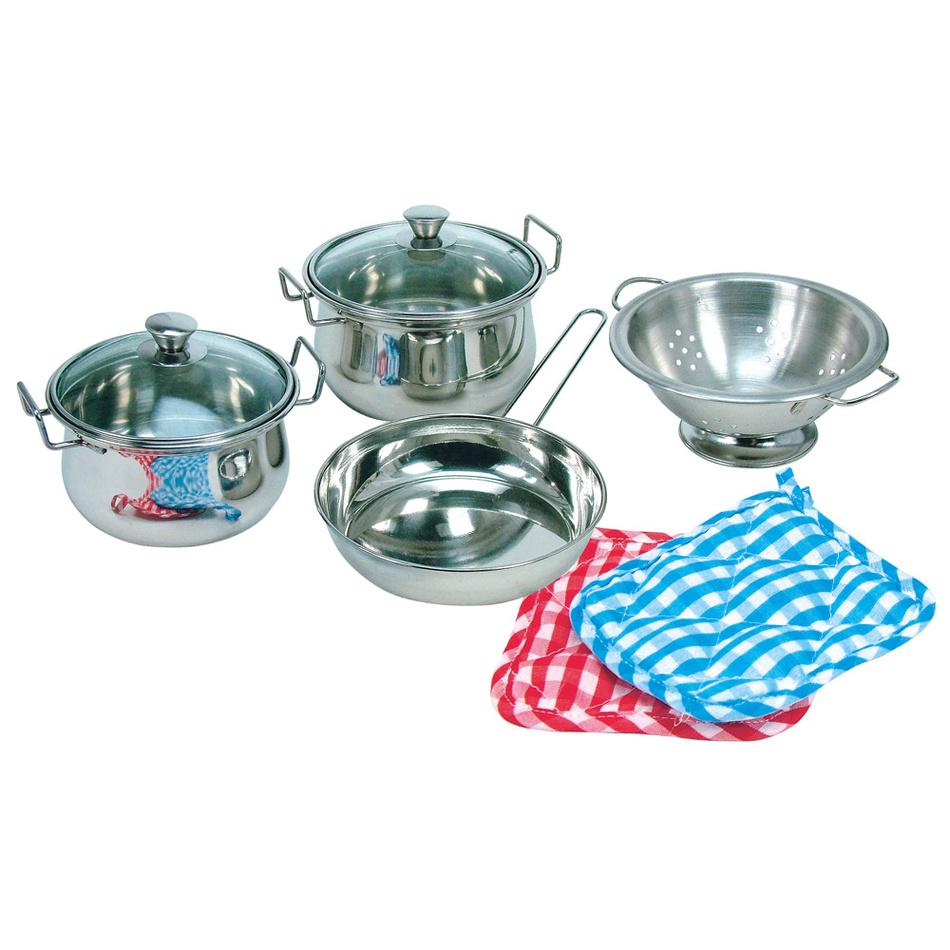 Bino Sada nerezového nádobí, 8 ks