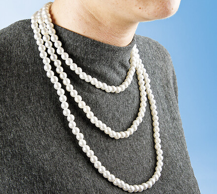 Perlový náhrdelník, 0,8 cm