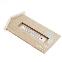 Drewniany termometr ścienny Home, 14 x 24 cm