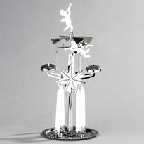 Suport îngerași cu clopoței DE Luxe argintiu