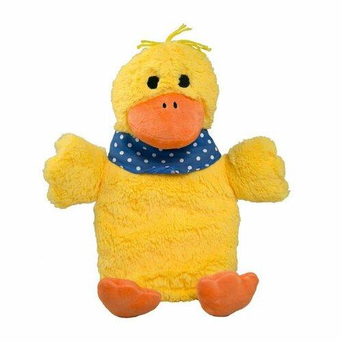 HUGO FROSCH Láhev na horkou vodu Öko 0,8 L plyšový kryt kachna Gagi žlutá