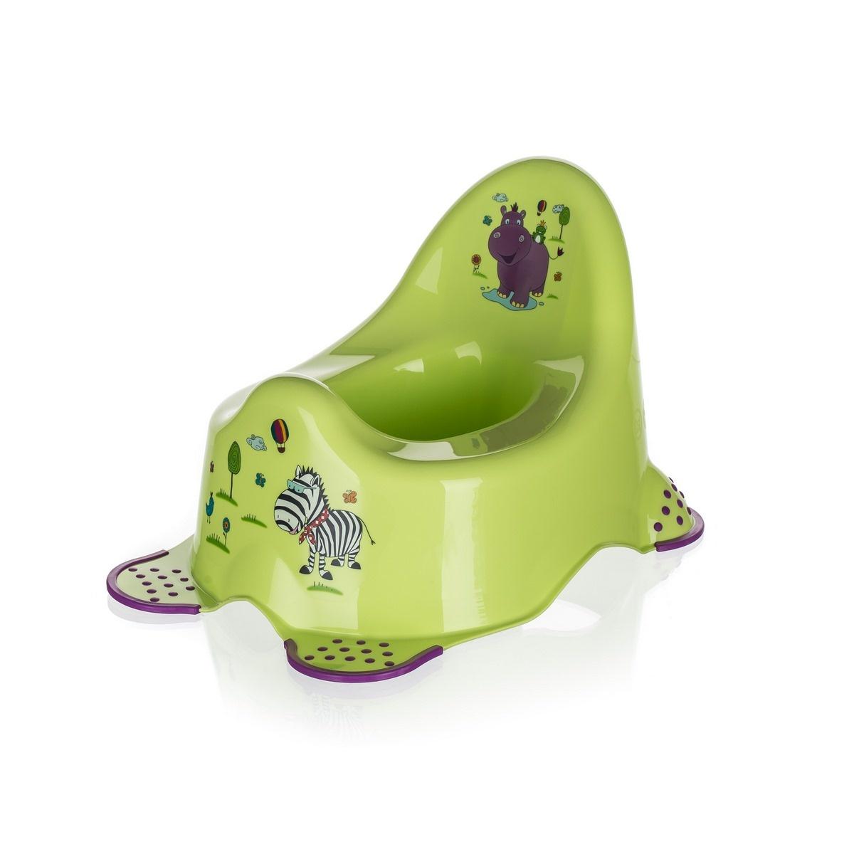 Oală de noapte Keeper Hippo, verde imagine 2021 e4home.ro