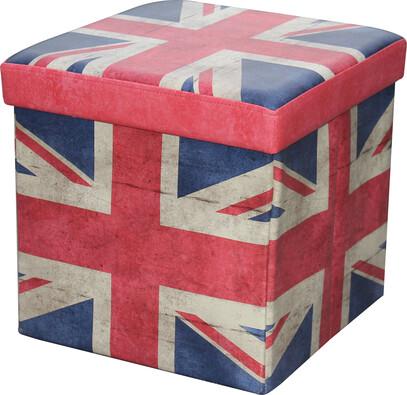 Skládací sedací box s potiskem Velká Británie