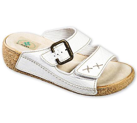 Dámské zdravotní pantofle Santé, bílá, 38