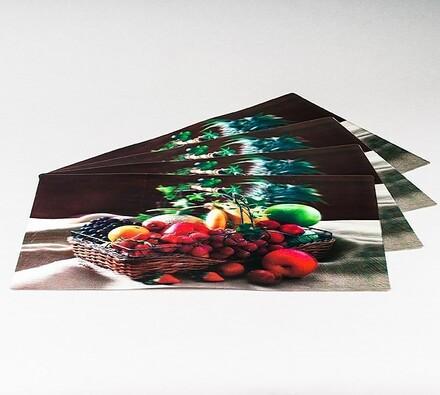 Prostírání 3D Ovocný koš, sada 8 ks, vícebarevná