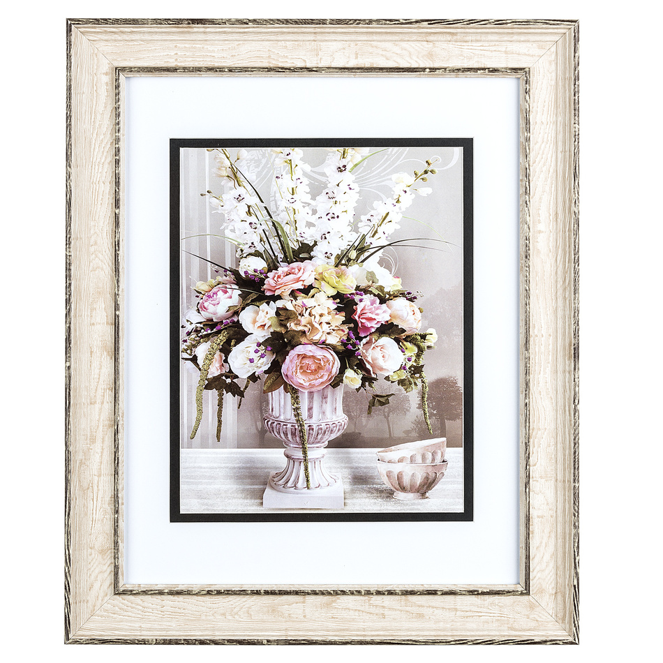 Obrázek kytice květin a misky Rose