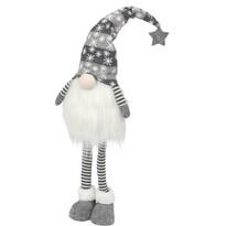 Vánoční LED dekorace Standing gnome šedá, 20 x 90 cm