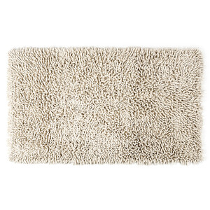 Koupelnová předložka Bari bílá, 45 x 75 cm