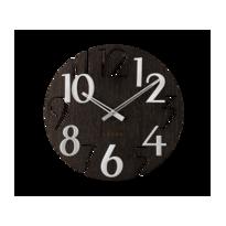 Nástenné hodiny Lavvu Style Black Wood LCT1010, pr. 40 cm