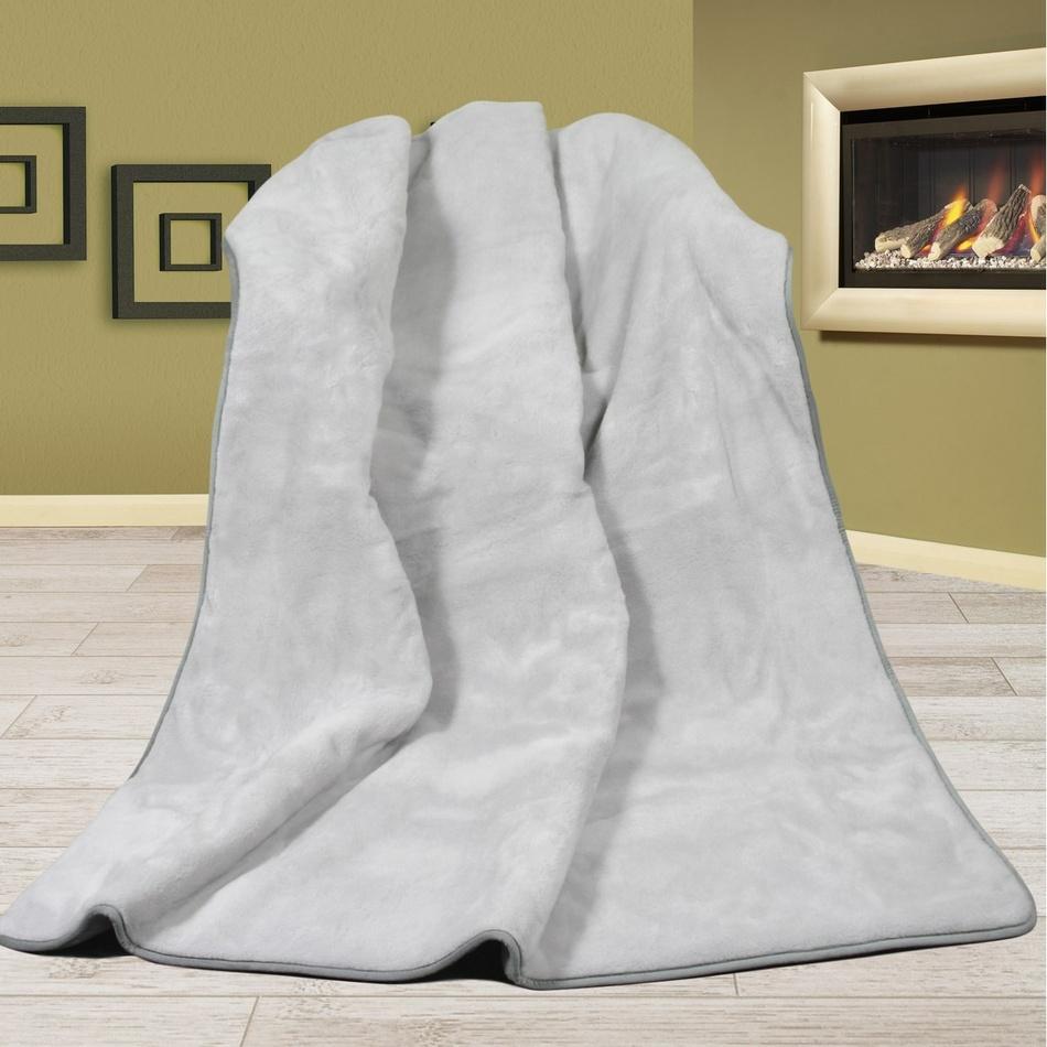 Bellatex vlněná deka Alpaka DUO UNI šedá, 155 x 200 cm