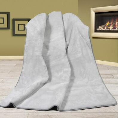 Pătură din lână Alpaca DUO UNI gri, 155 x 200 cm