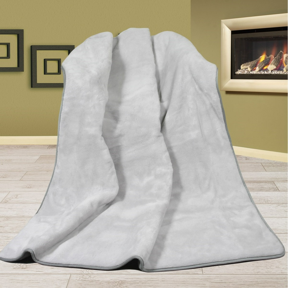 Bellatex vlnená deka Alpaka DUO šedá uni, 155 x 200 cm