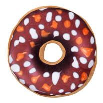 Tvarovaný polštářek Donut hnědá, 38 cm