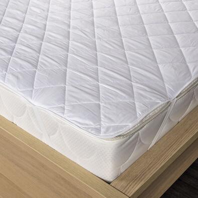 Chránič matraca prešitý z dutého vlákna biela, 90 x 200 cm